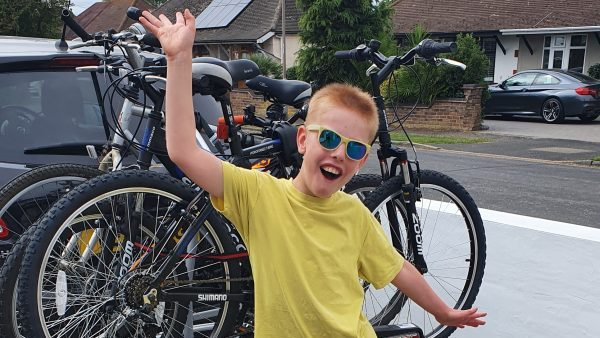 Nine year old's super bike ride for charity that supported parents