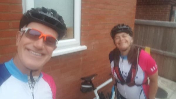 Grandparents' cycling passion raises thousands for 'Homes from Home'
