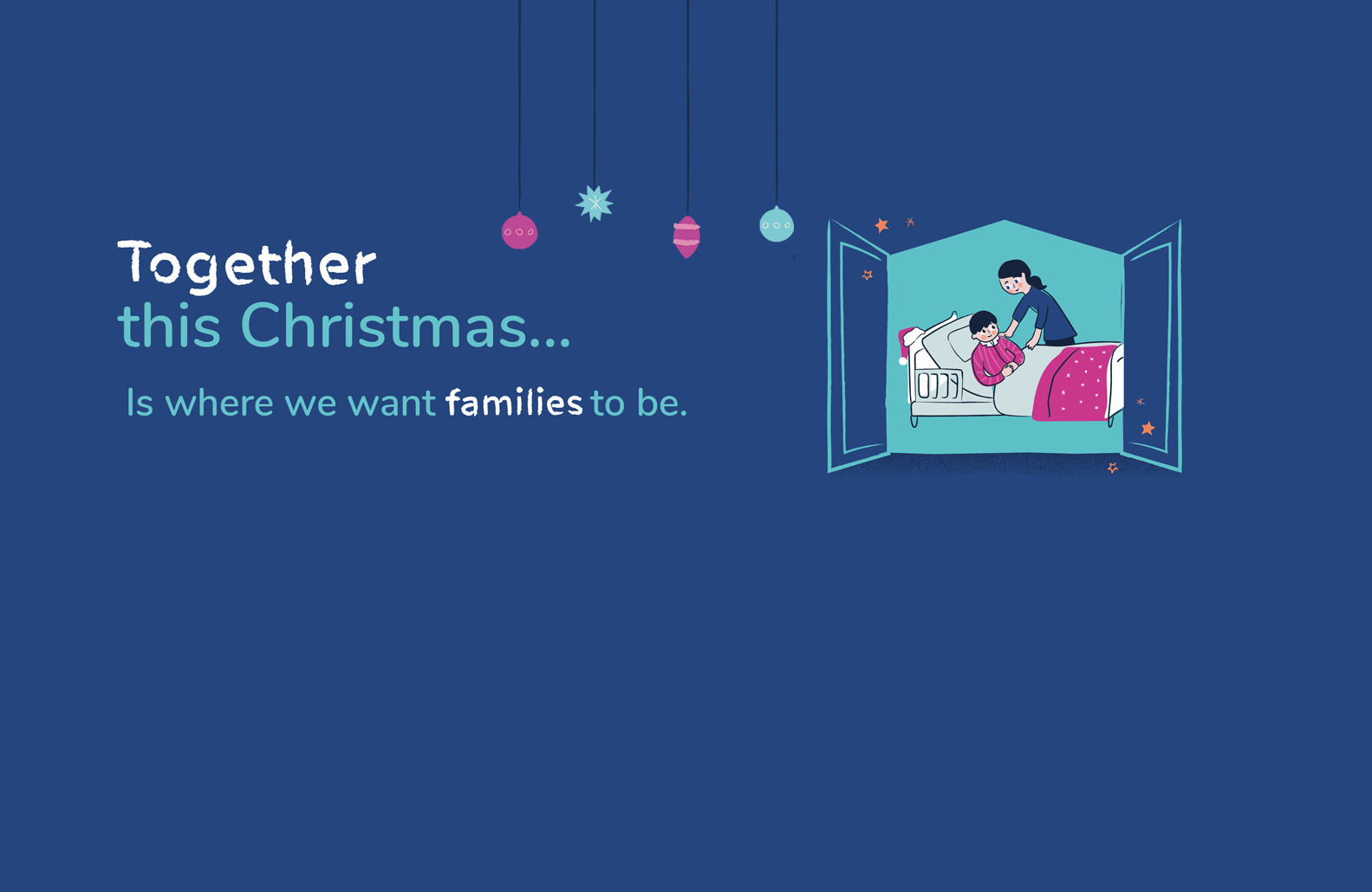 We're here, so families can be together