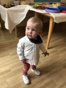 Toddler Jenson at Acorn House - Parents supported at Acorn House