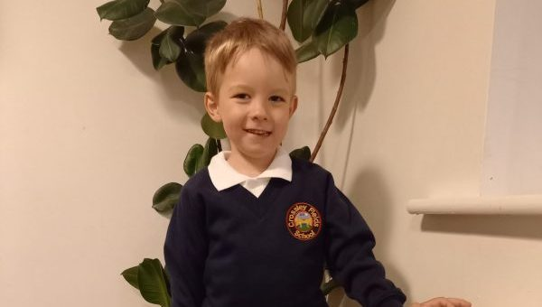 Little boy given 50% chance of survival at birth packs bag ready for first day of school
