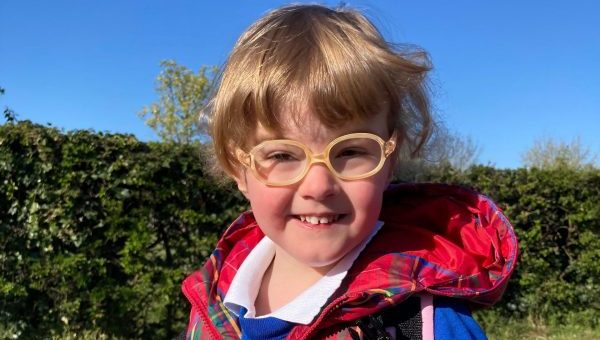 Three year old girl who was born 13 weeks premature excited to start nursery
